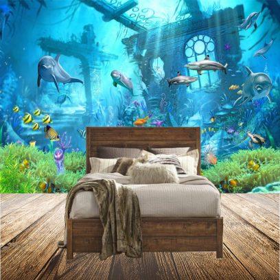 WP11 under the sea wallpaper mural