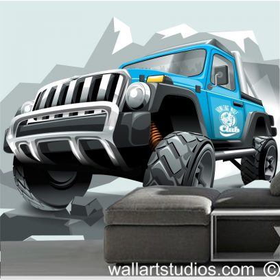 WMMT Monster Truck Wall Mural