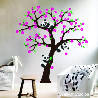 NT46 Panda Tree Wall Art Decal
