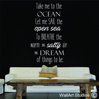 P111 Take me to the ocean wall sticker