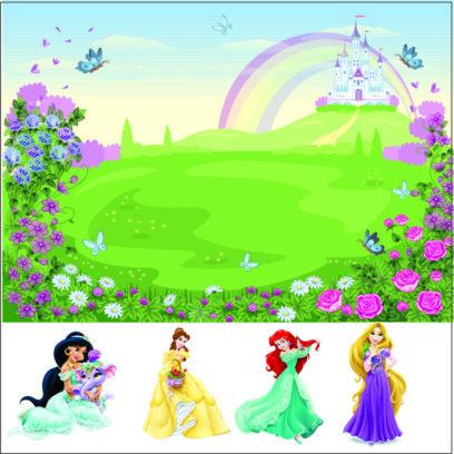 PSDP Disney Princess wall mural wallpaper