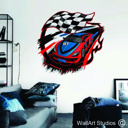 Racing Car Wall Sticker