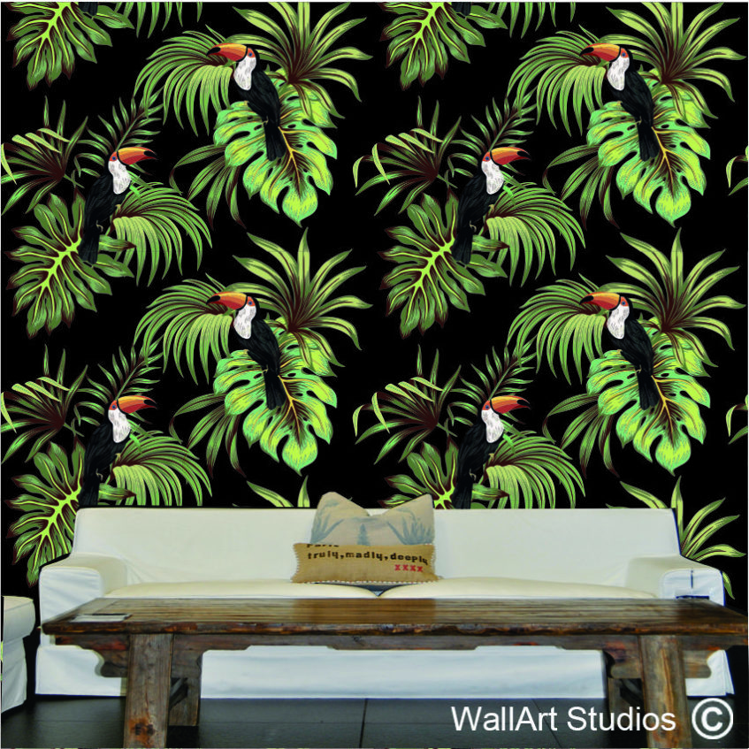 WPA17 Toucan Palm leaves