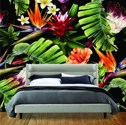 Strilitzia & Hibiscus wallpaper