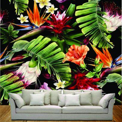 Strelitzia & Hibiscus wallpaper