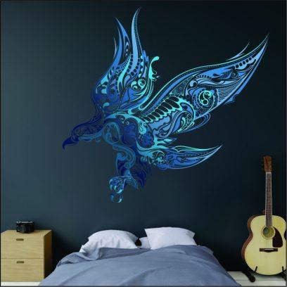 PSE Eagle in flight wall art sticker