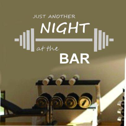 FH2 Night Bar Fitness Wall Sticker