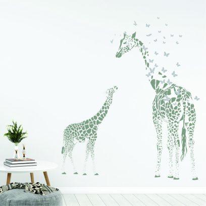 NA43 Mother & baby Giraffe