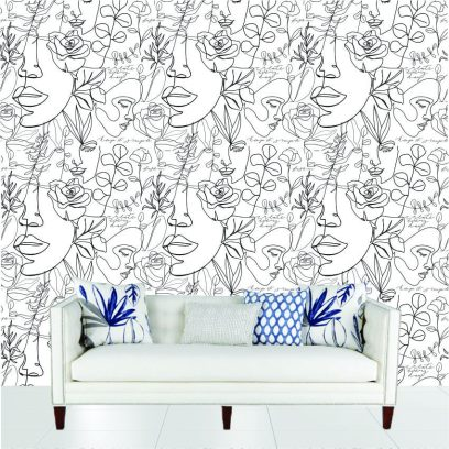 WP23 Line drawing wallpaper