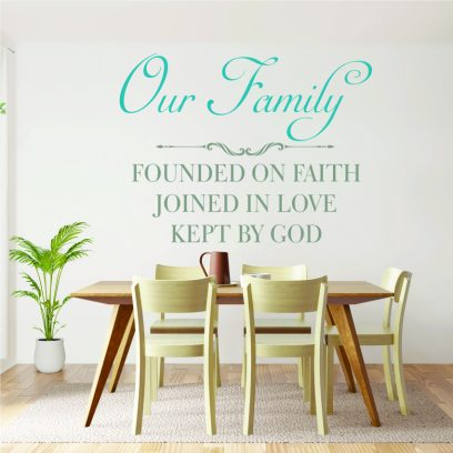 R16 Our Family Wall Sticker