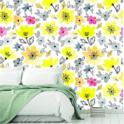 WP19 Yellow flowers wallpaper