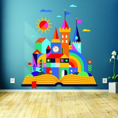Rainbow Castle wall sticker