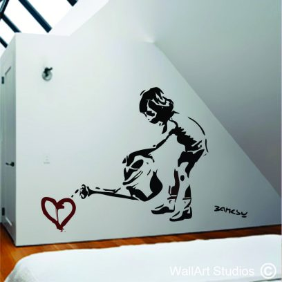NK17 Bansky little girl with watering can