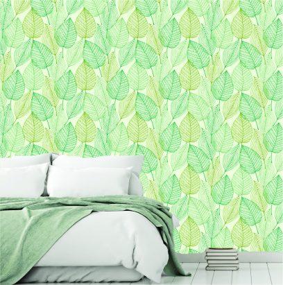 WP1 Green Leaves wallpaper
