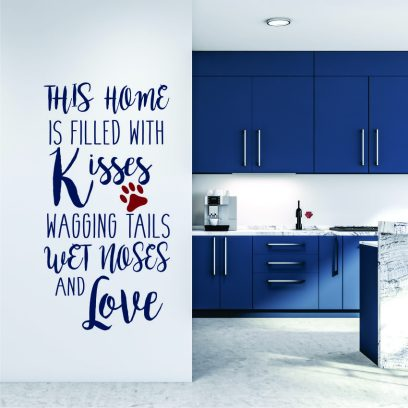 P110 wagging tails and wet noses wall decal