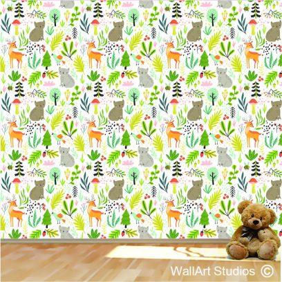 WPK4 Forest animals wallpaper